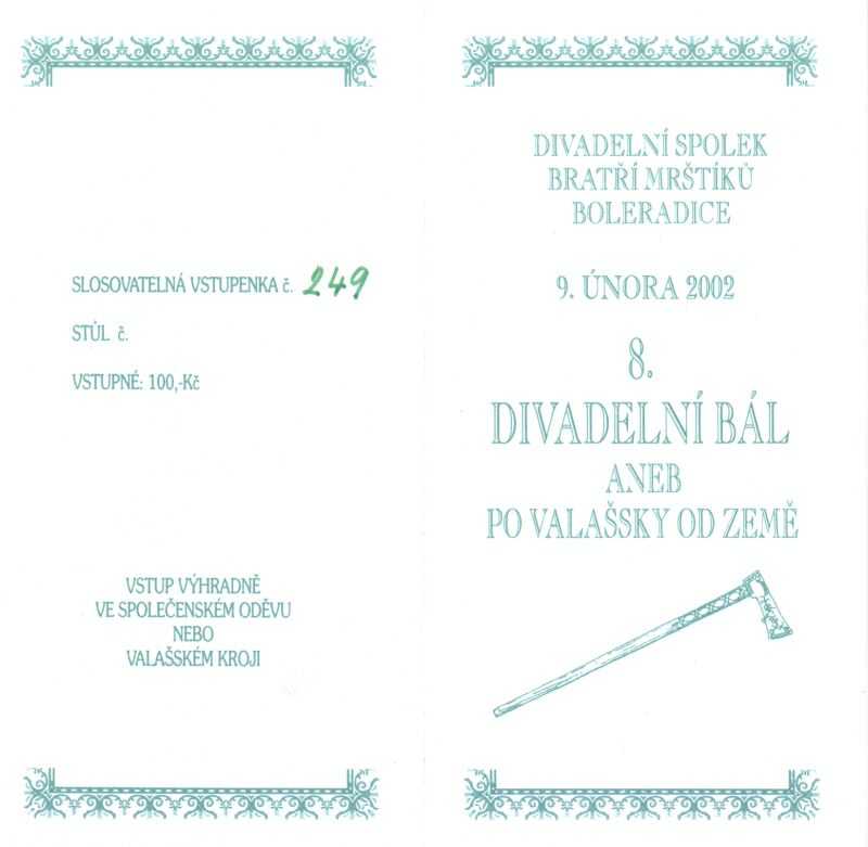 Vstupenka 2002